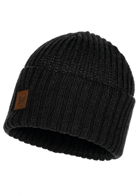 Buff---Knitted-Hat-Rutger-for-adults---Black