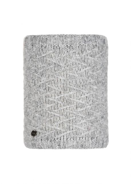 Buff---Knitted-Polar-Tube-scarf-Ebba-for-adults---Grey