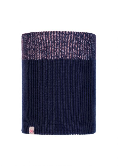 Buff---Knitted-Polar-Tube-scarf-Audny-for-children---Nightblue