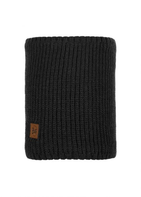 Buff---Knitted-Polar-Tube-scarf-Rutger-for-adults---Black