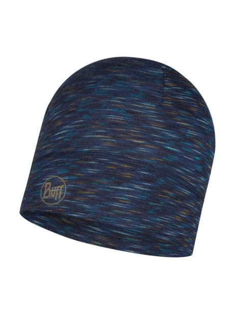 Buff---Lightweight-Merino-Hat-Stripes-for-adults---Denim/Multi