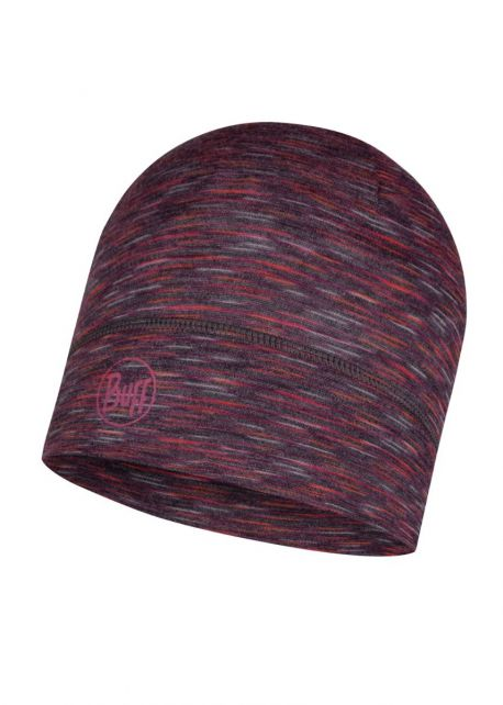 Buff---Lightweight-Merino-Hat-Stripes-for-adults---Dark-Grey/Multi