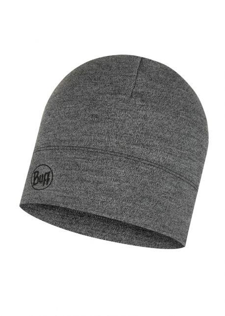 Buff---Midweight-Merino-Wool-Hat-Melange-for-adults---Light-Grey