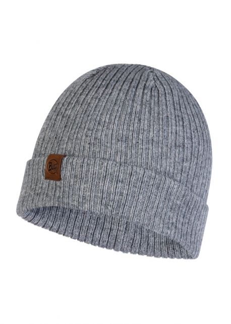 Buff---Knitted-Hat-Kort-for-adults---Grey