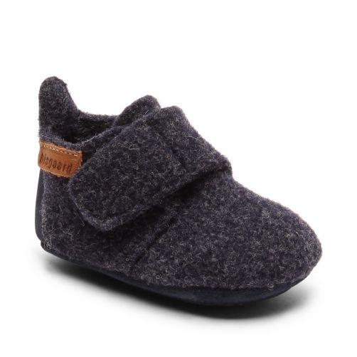 Bisgaard---Home-shoe-for-babies---Baby-wool---Blue