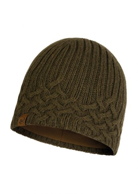 Buff---Knitted-Polar-Hat-New-Helle-for-adults---Tundra-Khaki