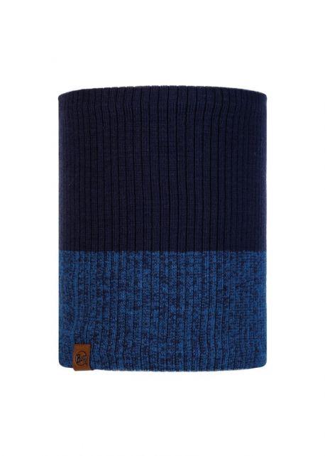 Buff---Knitted-Polar-Tube-scarf-Dima-for-adults---Nightblue