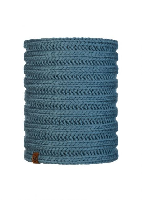 Buff---Knitted-Tube-scarf-Vanya-for-adults---Blue