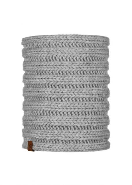 Buff---Knitted-Tube-scarf-Vanya-for-adults---Gray