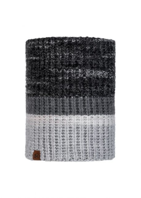 Buff---Knitted-Polar-Tube-scarf-Alina-for-adults---Grey/Multi