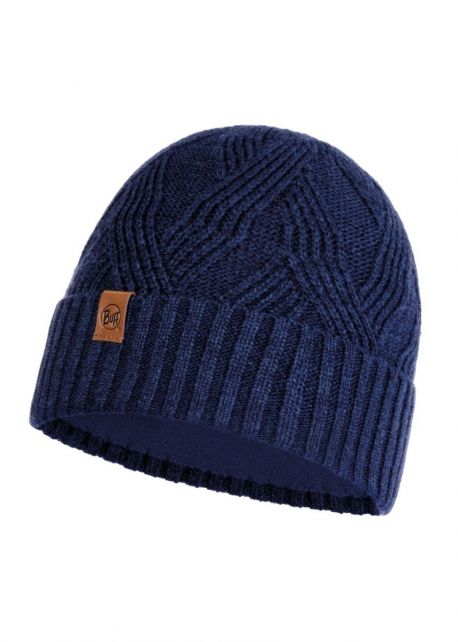 Buff---Knitted-Polar-Hat-Artur-for-adults---Nightblue