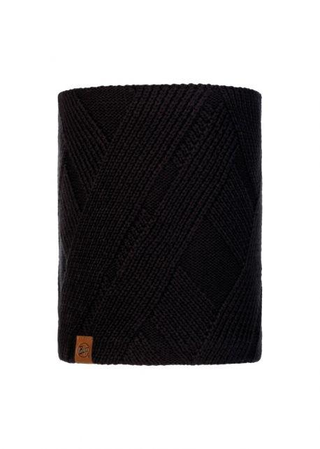 Buff---Knitted-Polar-Tube-scarf-Raisa-for-adults---Black