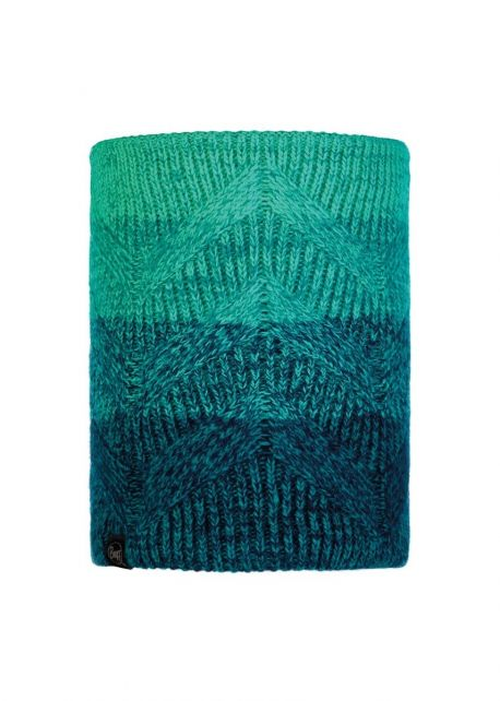 Buff---Knitted-Polar-Tube-scarf-Masha-for-adults---Turquoise