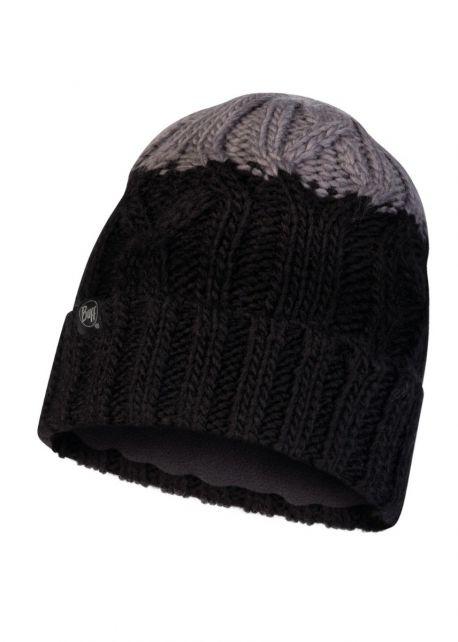 Buff---Knitted-Polar-Hat-Ganbat-for-children---Black/Grey