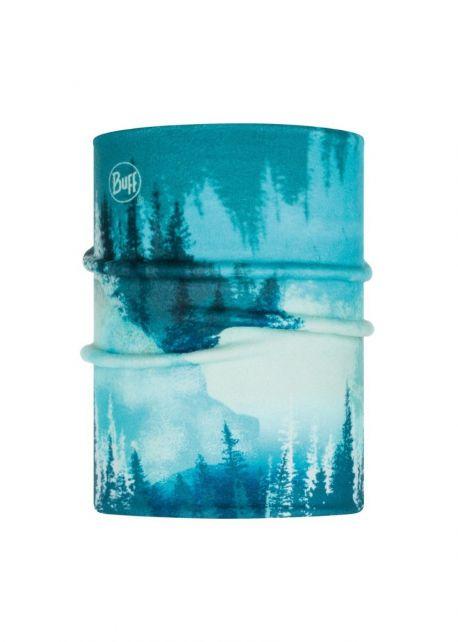 Buff---Reversible-Polar-Tube-scarf-Lake-for-children---Turquoise/Multi