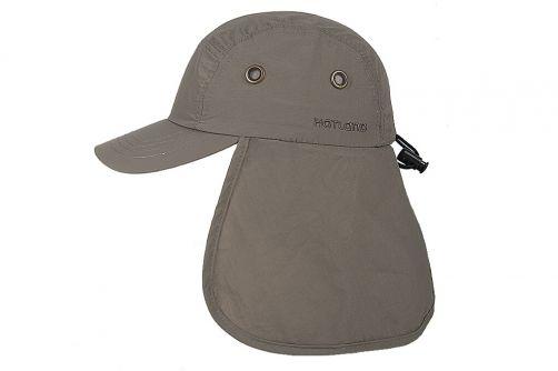 Hatland---UV-Sun-cap-with-neck-protection-for-men---Tropic---Olivegreen