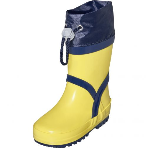 Playshoes---Rainboots-with-drawstring-for-kids---Basic---Yellow
