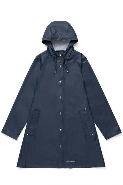 Stutterheim---Lightweight-raincoat-for-women---Mosebacke-LW---Navy