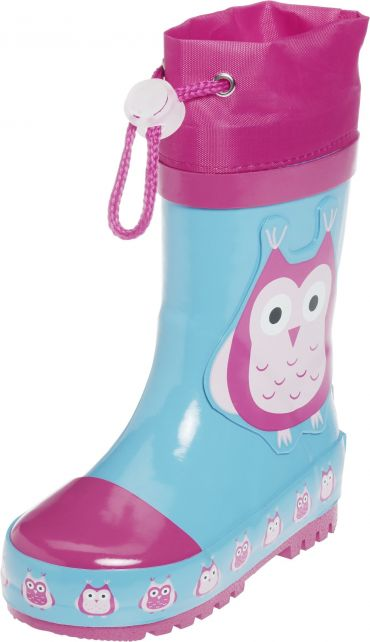 Playshoes---Rubber-Boots-Owls---Turquoise