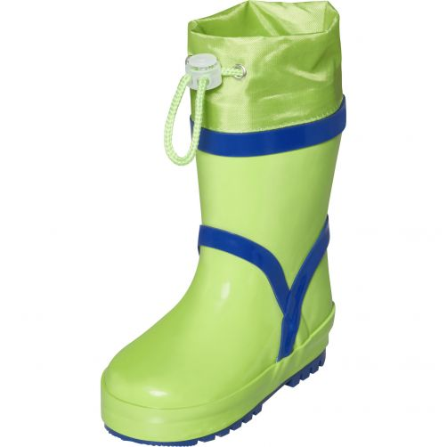 Playshoes---Rainboots-with-drawstring-for-kids---Basic---Green