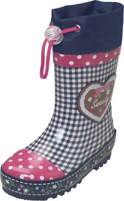 Playshoes---Rainboots-with-drawstring---Checked-with-Dots