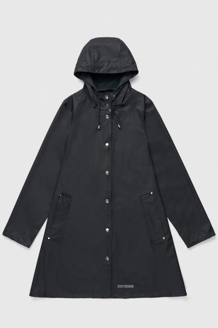 Stutterheim---Lightweight-raincoat-for-women---Mosebacke-Lightweight---Black