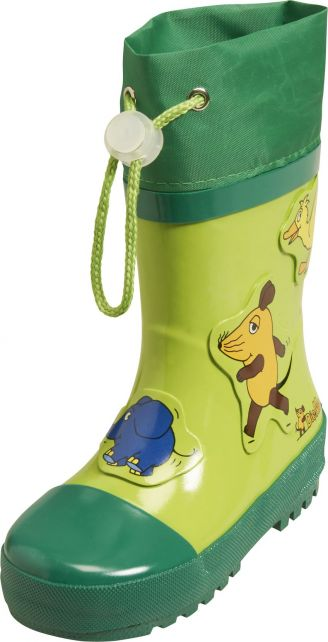 Playshoes---Rubber-Boots-Mouse,-Elephant-&-Duck---Green