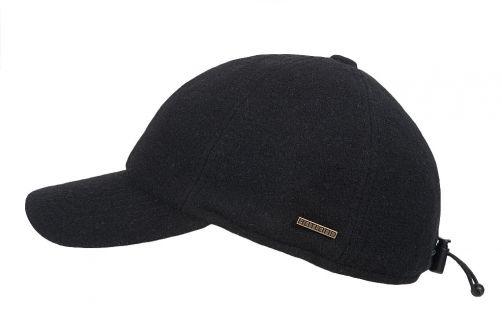 Hatland---Baseball-cap-for-men---Lenox---Black