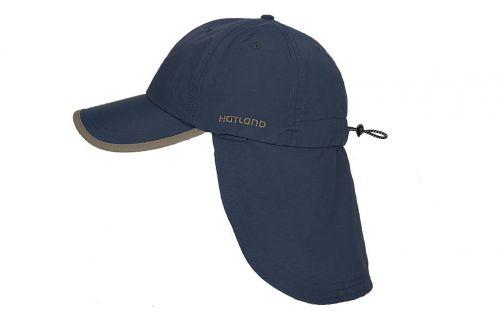 Hatland---UV-sun-cap-with-neck-flap-for-men---Stone-Anti-Mosquito---Slate-blue