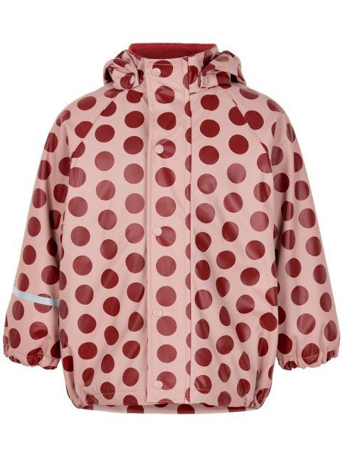 CeLaVi---Rain-jacket-with-fleece-for-girls---Dots---Pink