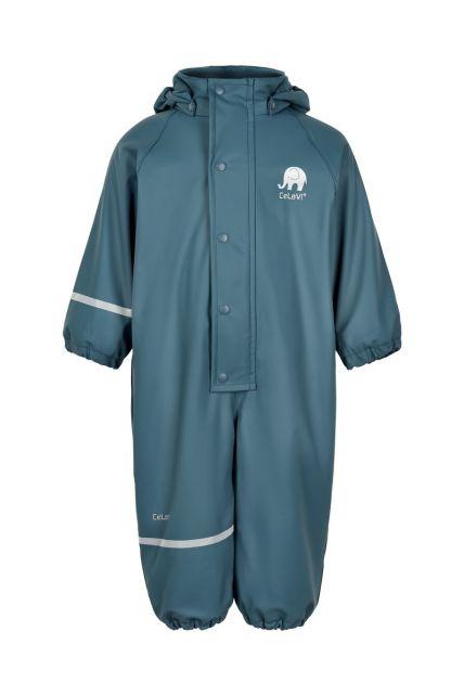 CeLaVi---Rainsuit-with-fleece-for-kids---Solid---Ice-blue