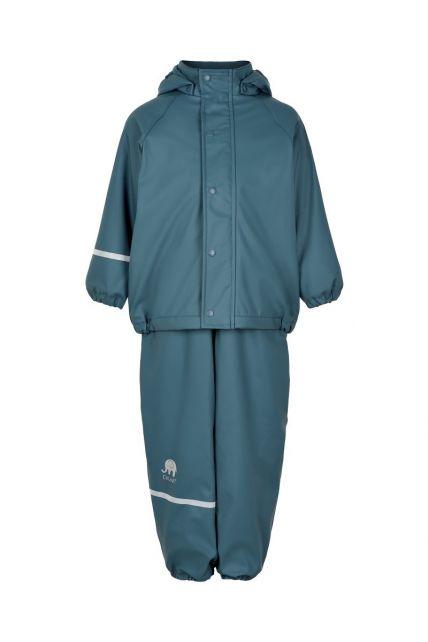 CeLaVi---Rainwear-set-with-fleece-for-kids---Bib-or-elastic-waist---Ice-blue