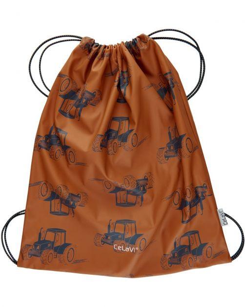 CeLaVi---Water-resistant-drawstring-bag---Tractors---Pumpkin-