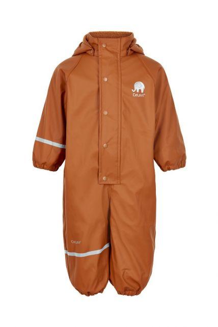 CeLaVi---Rainsuit-with-fleece-for-kids---Solid---Pumpkin