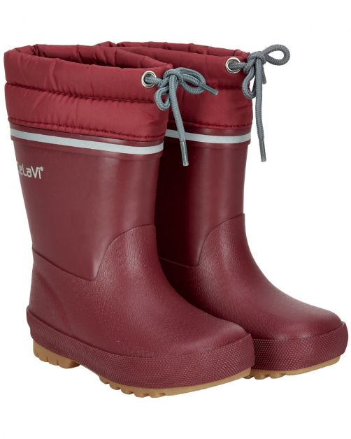 CeLaVi---Snowboots-with-fleece-lining-for-kids---Thermal---Dark-red