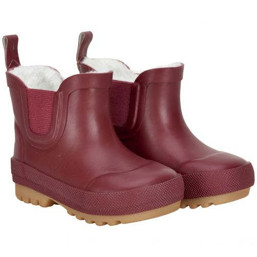 CeLaVi---Short-snowboots-with-fleece-for-kids---Thermal---Dark-red