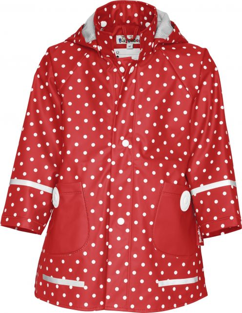 Playshoes---Rain-Coat-Dots---Red