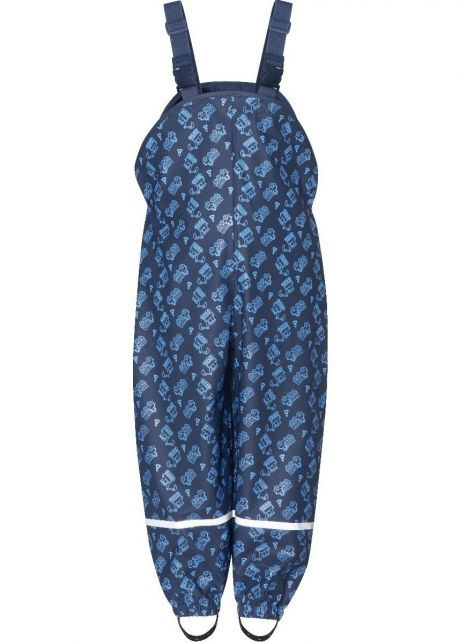 Playshoes---Rain-dungarees-for-kids---Construction-Site---Navy