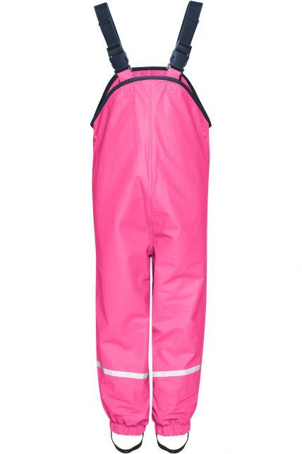 Playshoes---Rain-Bib-Trousers-with-Fleece-lining---Pink