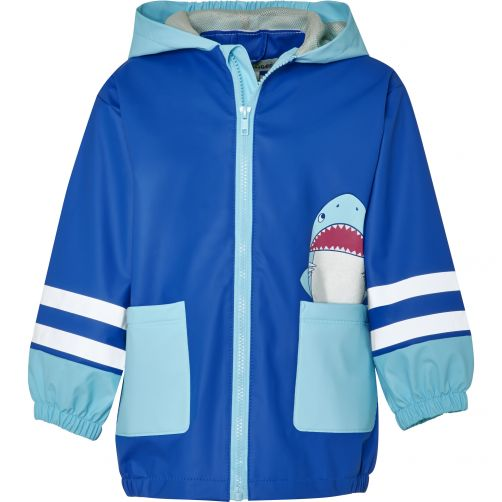 Playshoes---Raincoat-for-kids---Shark---Blue