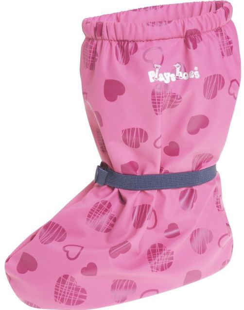 Playshoes---Waterproof-overshoes-with-fleece-lining---Hearts---Pink