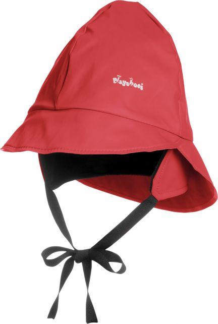 Playshoes---Rain-cap-with-fleece---Red