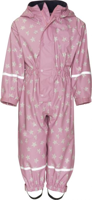 Playshoes---Rainwear-suit-with-Fleece-lining-for-kids---Stars---Light-Pink