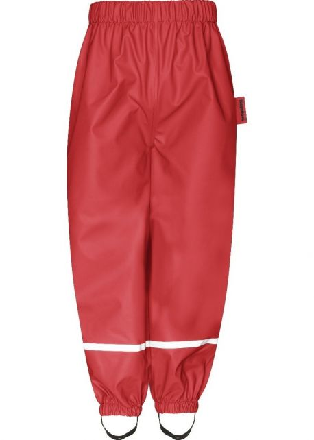 Playshoes---Rain-Pants-with-Fleece-lining-for-kids---Red