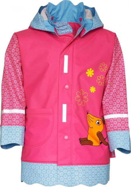 Playshoes---Rainjacket-with-Mouse---Pink