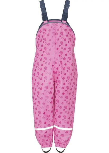 Playshoes---Rain-dungarees-for-kids---Hearts---Pink