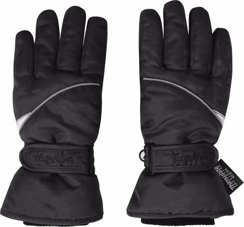 Playshoes---Winter-Gloves-with-velcro---Black