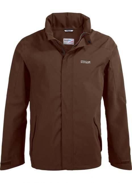 Pro-X-Elements---Packable-rain-jacket-for-men---SKY-SympaTex®---Brown