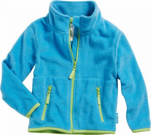 Playshoes---Fleece-jack-with-long-sleeves---Aquablue/Green