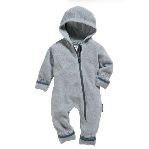 Playshoes---Fleece-overall-for-babies---Mottled---Grey/melange